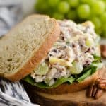 Fruit & Pecan Chicken Salad served