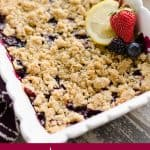 Lemon Berry Crisp