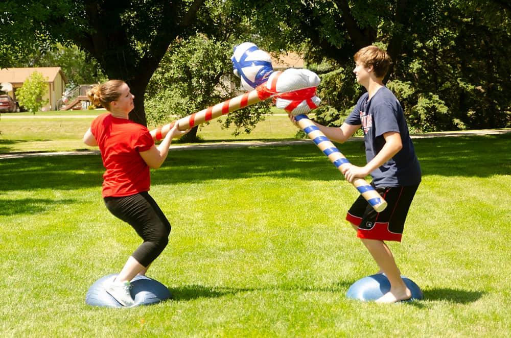 gladiator jousting family olympics