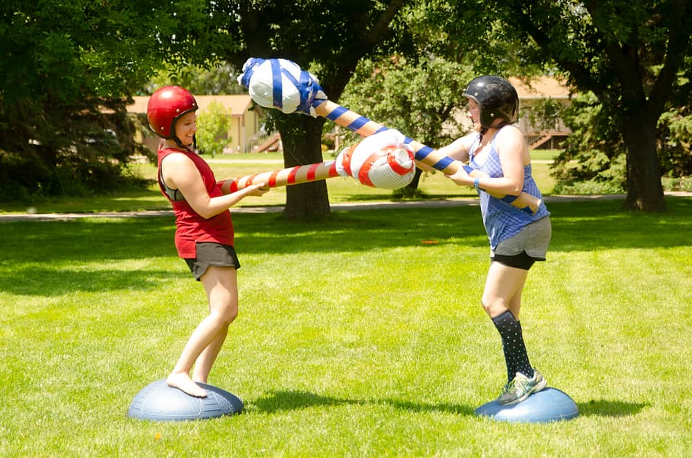 gladiator jousting sisters