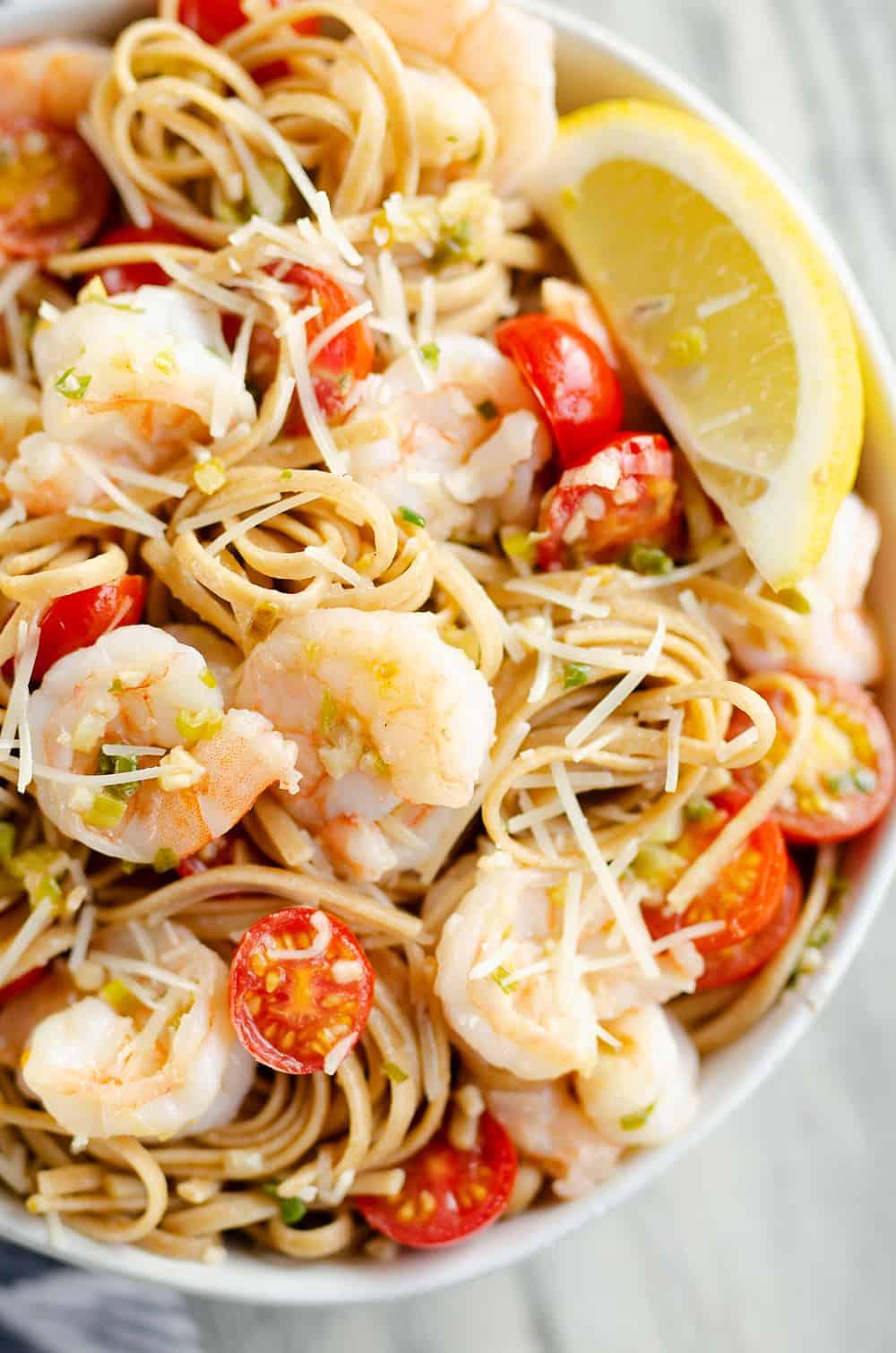 Parmesan Lemon Shrimp Linguinelarge bowl