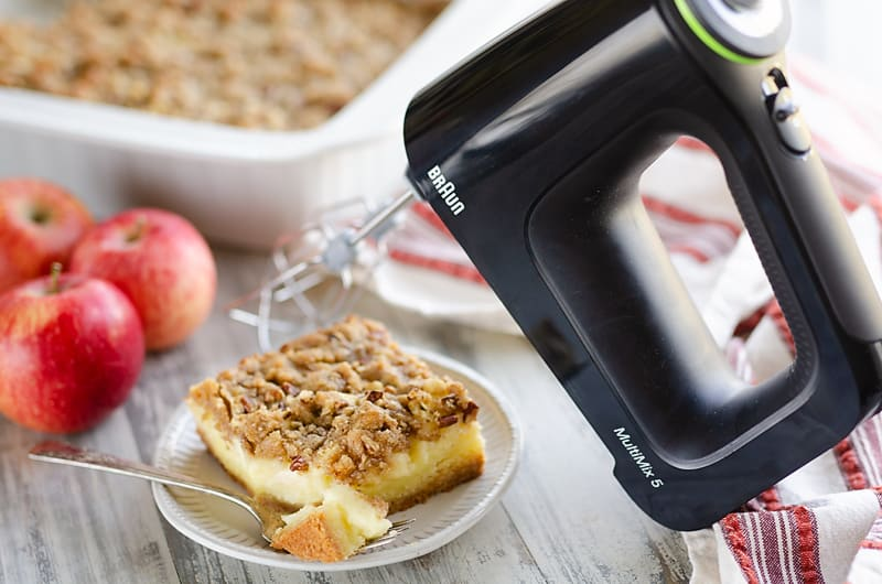 Apple Pecan Custard Dessert with Braun MultiMix