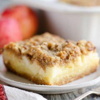 Apple Pecan Custard Dessert slice of sweet