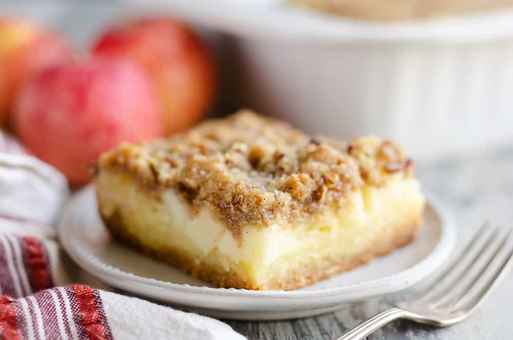 Apple Pecan Custard Dessert slice of sweet