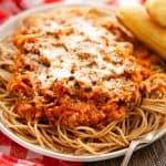 Healthy Parmesan Vegetable Turkey Spaghetti