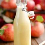 Light Apple Cider Vinaigrette in glass bottle