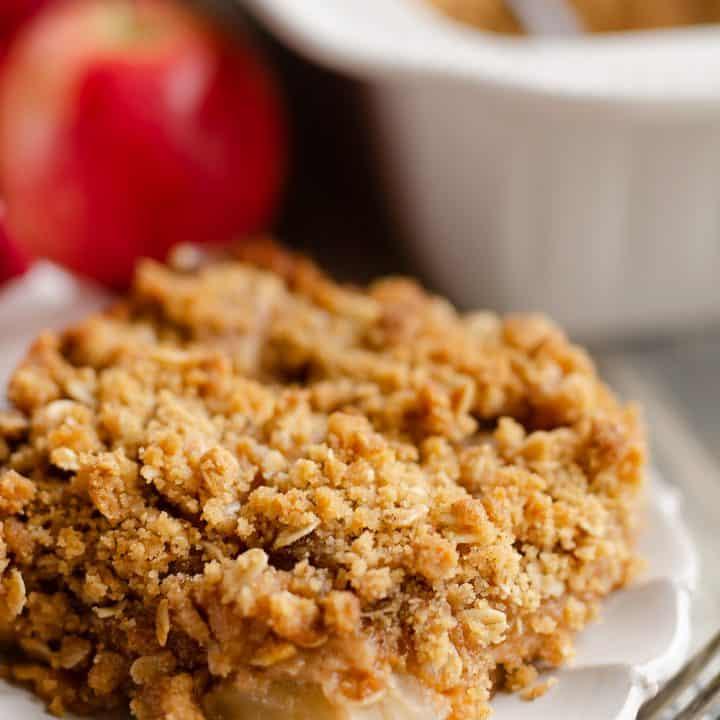 Peanut Butter Apple Crisp individual serving