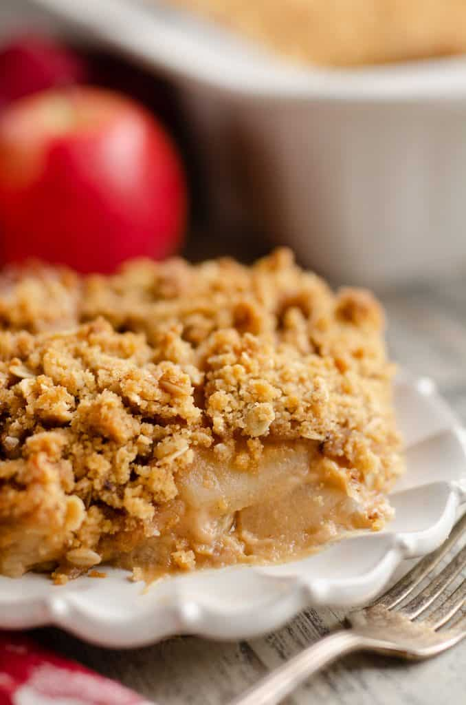 Peanut Butter Apple Crisp bite of