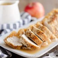 Pressure Cooker Pork Loin with Bourbon Apple Sauce