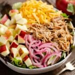 Pulled Pork Apple Salad dinner entree