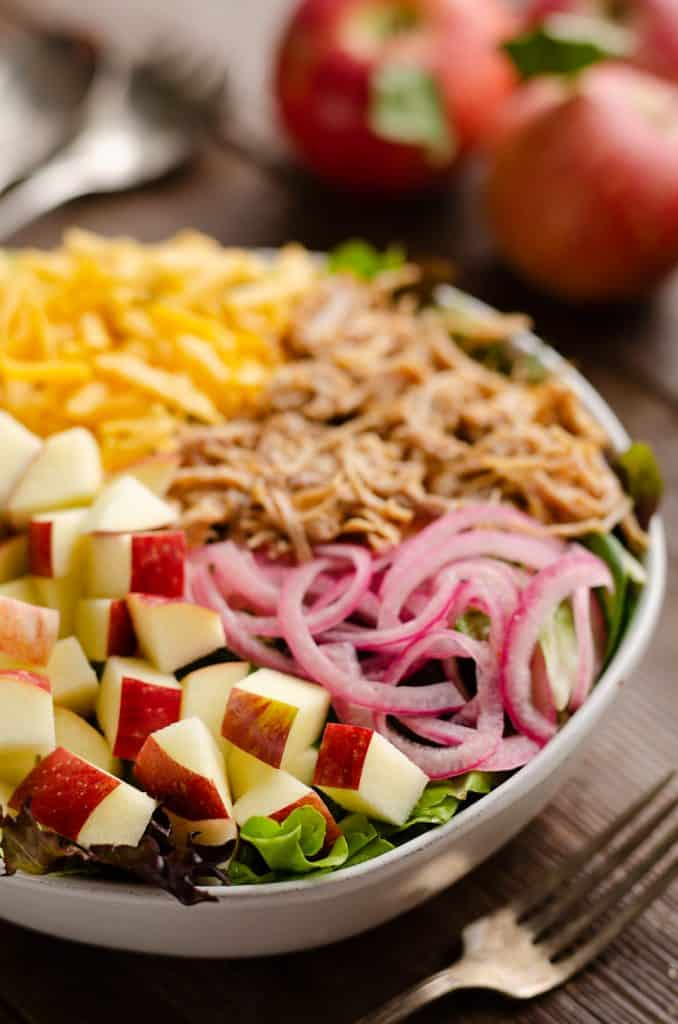 Pulled Pork Apple Salad serving