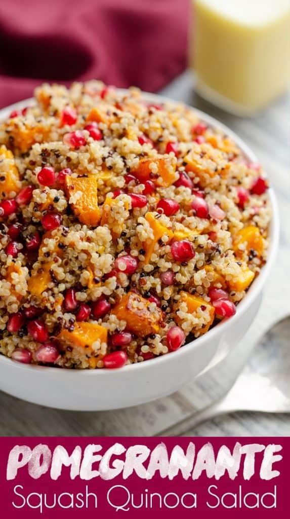 Pomegranate Squash Quinoa Salad