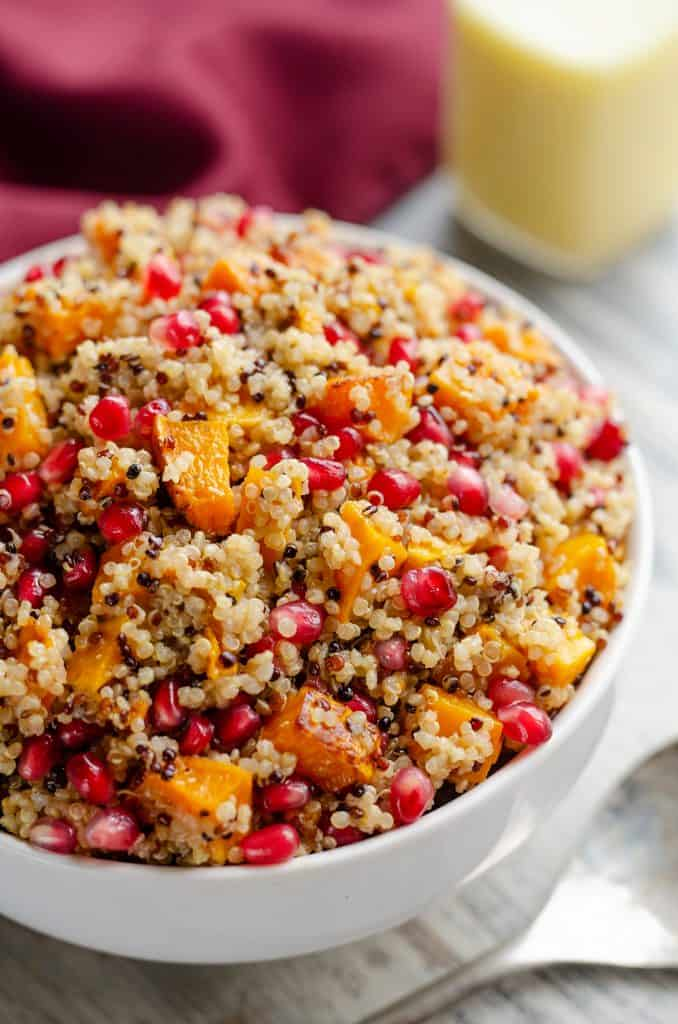 Pomegranate Squash Quinoa Salad vegetarian meal