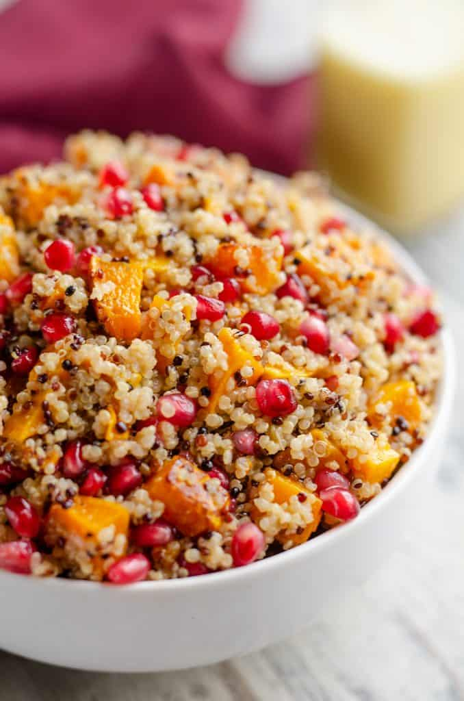 Pomegranate Squash Quinoa Salad side dish