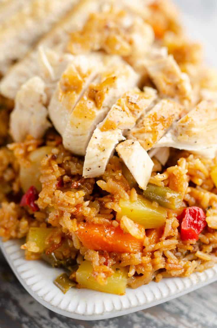 Pressure Cooker Pineapple BBQ Chicken & Rice