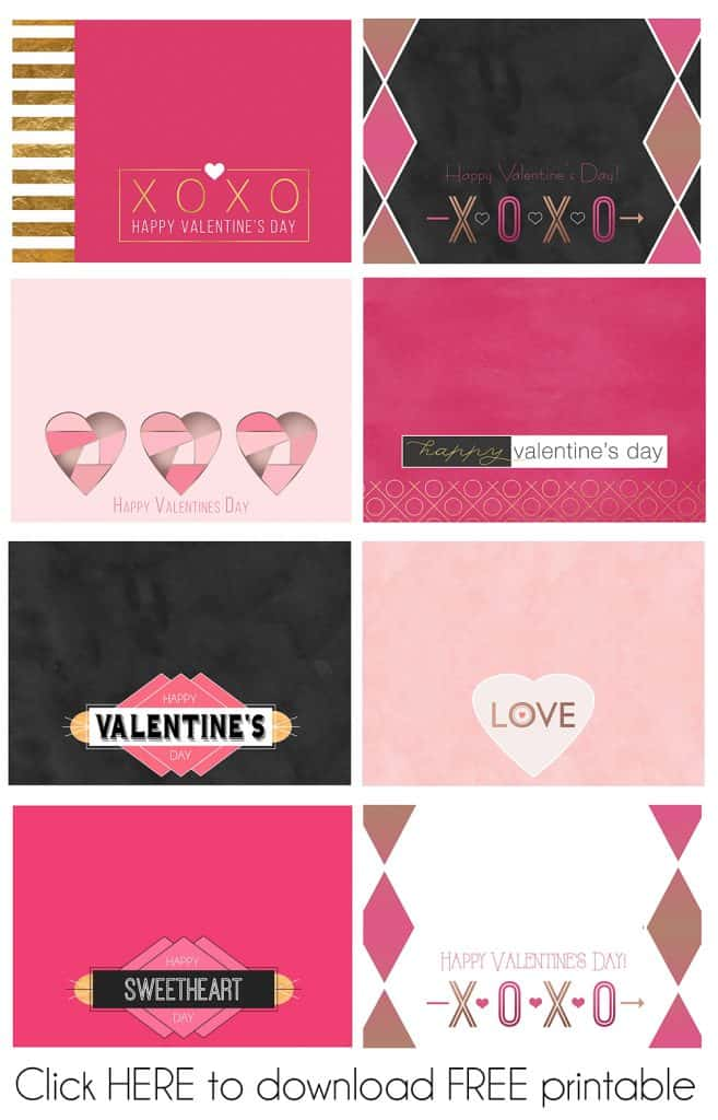 FREE Printables Valentine Treat Bag Toppers PDF Download