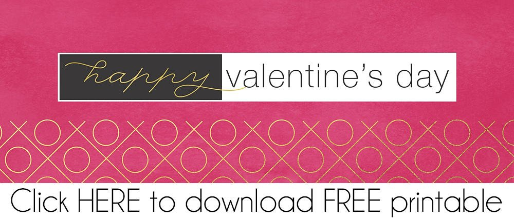 Love Me Valentine FREE Printable Treat Bag Topper Download