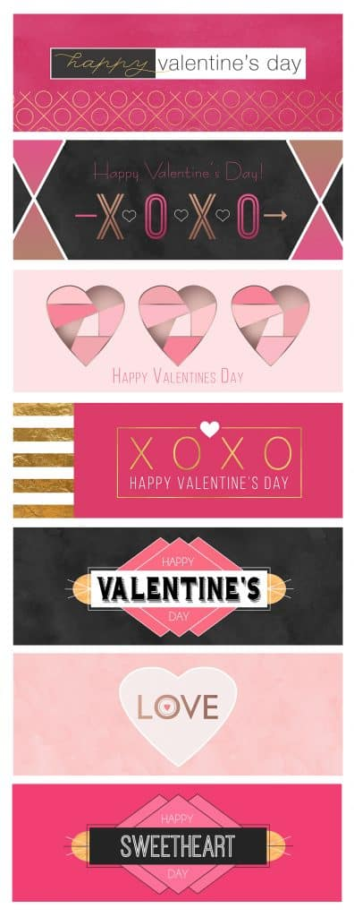 Free Printable Valentine Treat Bag Toppers Design Templates