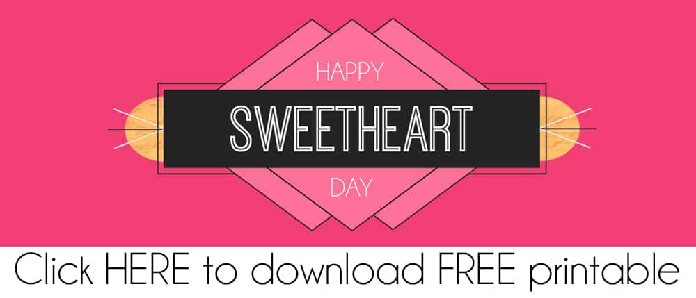 Modern Pink Valentine FREE Printable Treat Bag Topper PDF Download