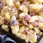 Sweet & Salty Puffcorn Snack Mix in sheet pan