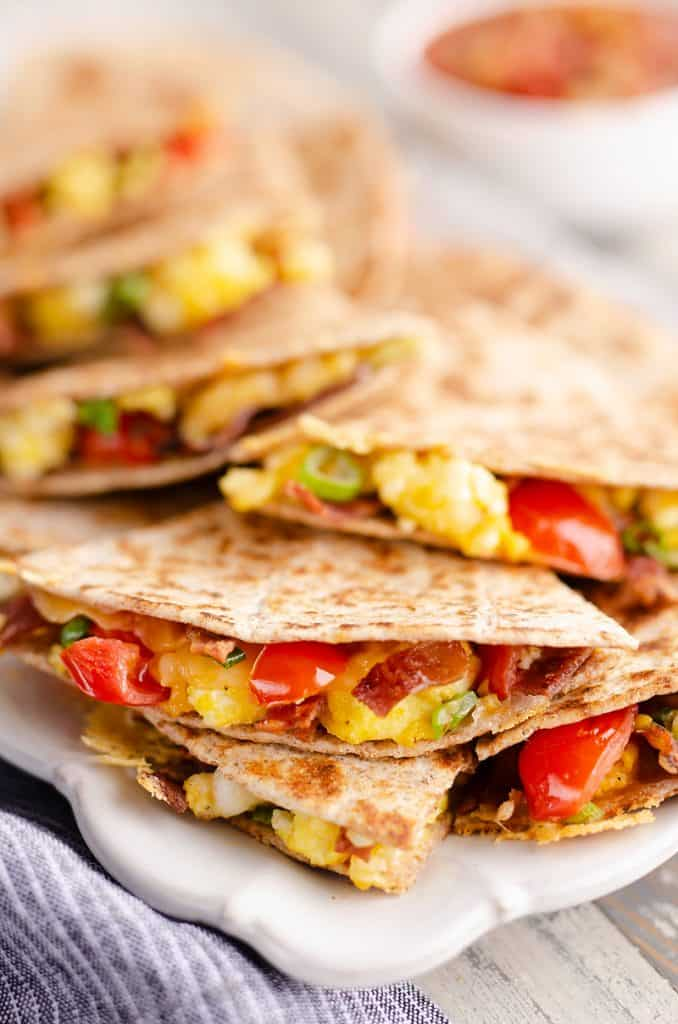 Turkey Bacon Breakfast Quesadilla Healthy Recipe