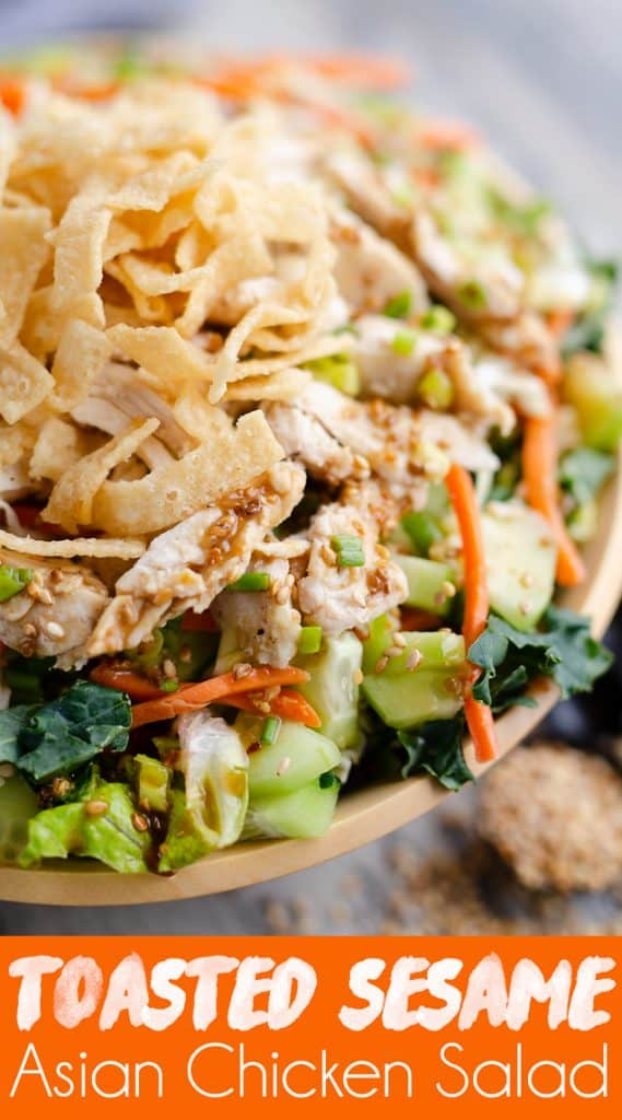 Asian Toasted Sesame Chicken Salad