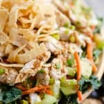 Asian Toasted Sesame Chicken Salad serving
