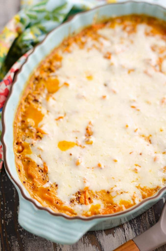 Buffalo Chicken Quinoa Bake served for dinner