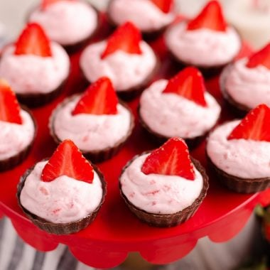 Strawberry Dark Chocolate Dessert Cups batch