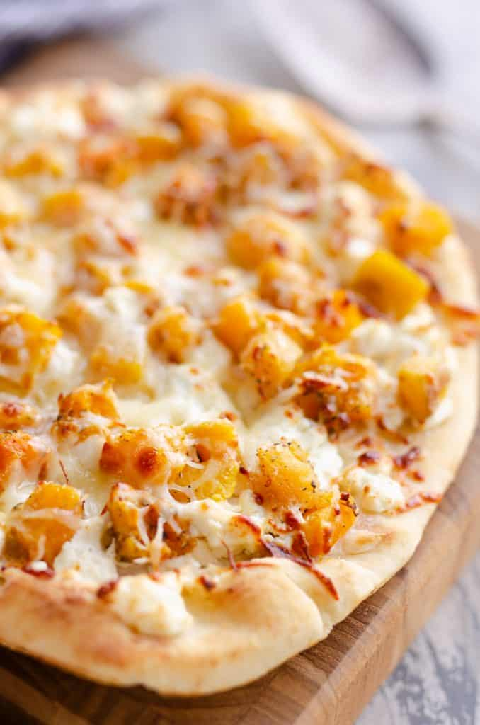 Airfryer Squash & Goat Cheese Pizza
