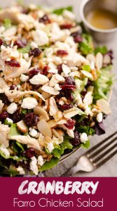 Cranberry Farro Chicken Salad