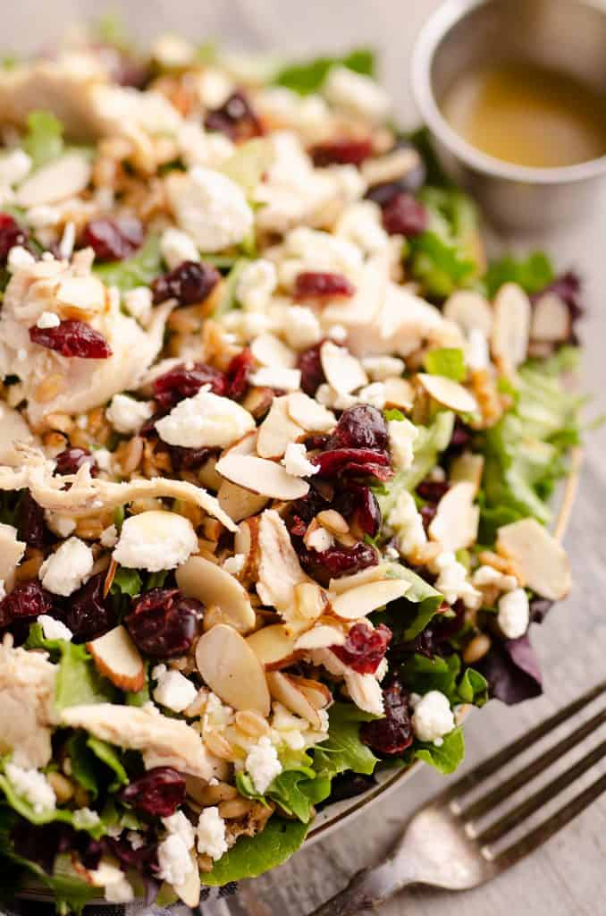 Cranberry Farro Chicken Salad dinner recipe