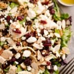 Cranberry Farro Chicken Salad with apple cider vinaigrette