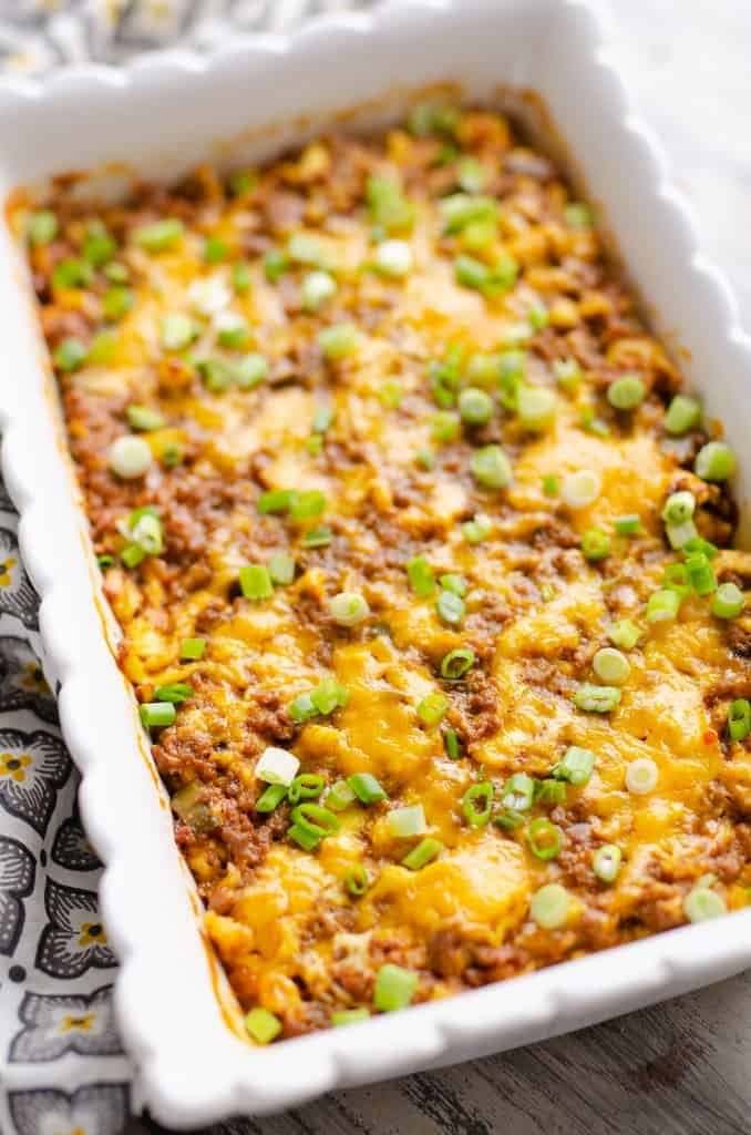 Light Mexican Breakfast Casserole baked