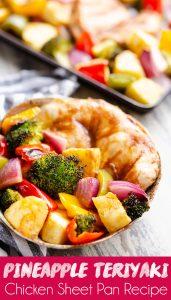 Pineapple Teriyaki Chicken Sheet Pan Recipe