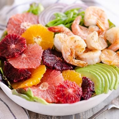 Citrus Shrimp Salad with citrus dressing