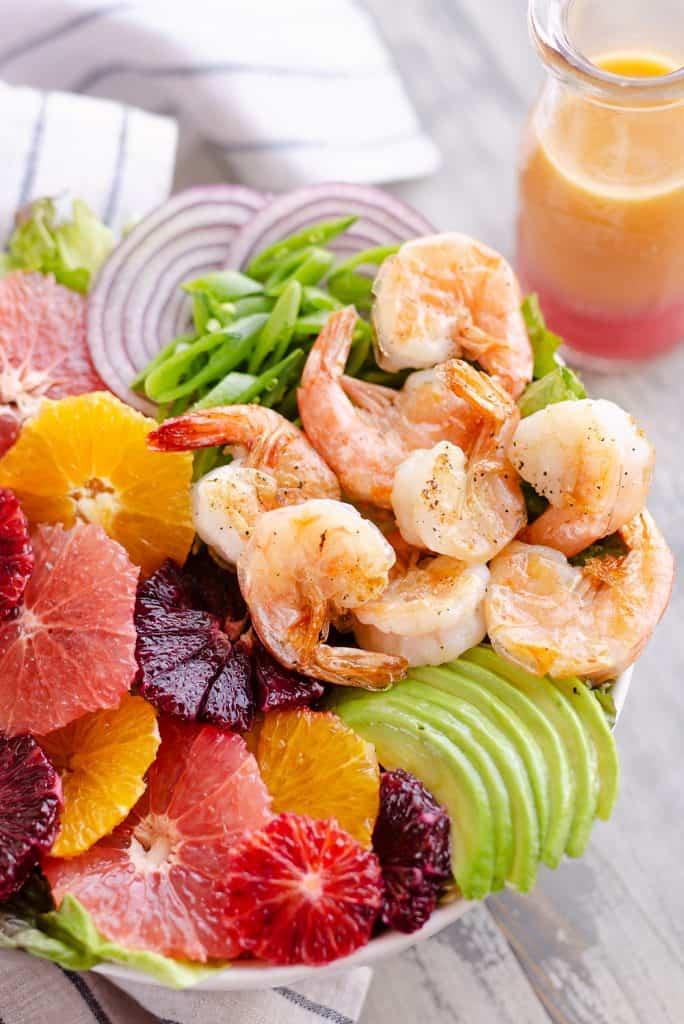 Citrus Shrimp Salad with light citrus vinaigrette