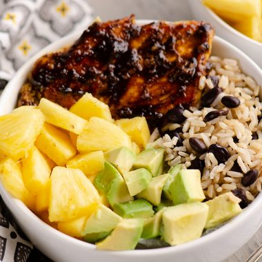 Cuban Chicken Rice Bowl Single Serving Bowl