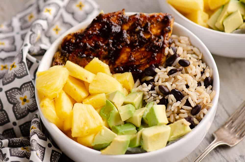 Cuban Chicken Rice Bowl Single Serving Bowl