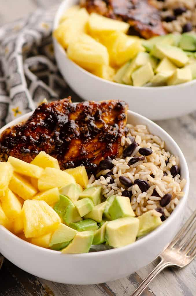 Cuban Chicken Rice Bowl Individual Servings