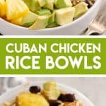 Cuban Chicken Rice Bowl Picture