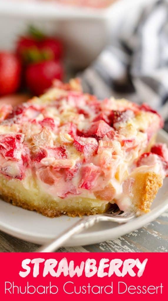 Strawberry Rhubarb Custard Dessert
