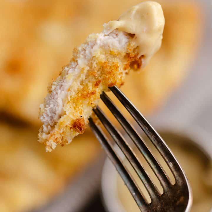 Crispy Air Fryer Breaded Pork Chops bite