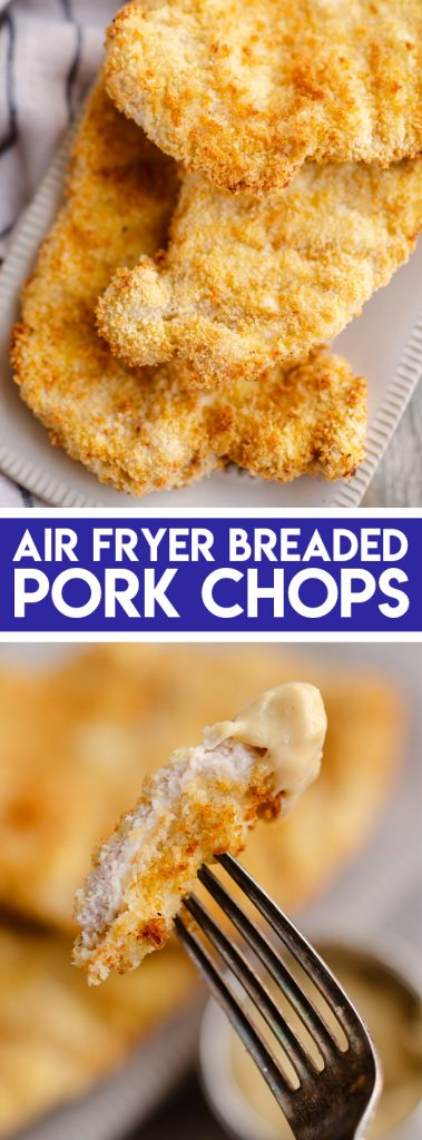 Crispy Air Fryer Breaded Pork Chops