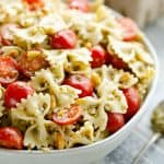 Fresh Tomato Pesto Pasta Salad