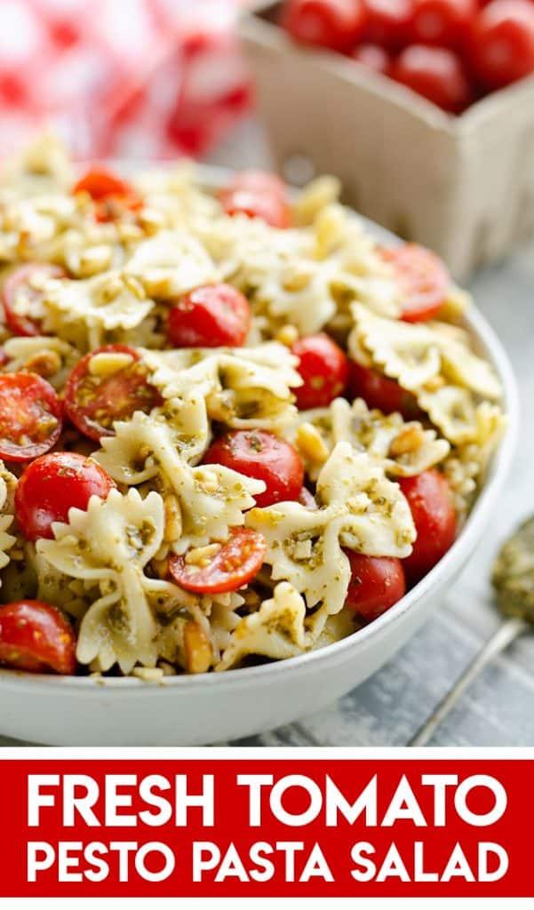 Fresh Tomato Pesto Pasta Salad