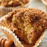 Rhubarb Streusel Muffins bite