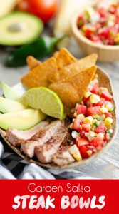 Garden Salsa Steak Bowl