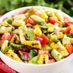 Grilled Corn Avocado Salad Recipe in bowl
