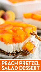 Peach Pretzel Salad Dessert